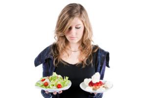 Jeune fille et gourmandise régime